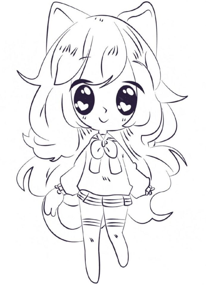 anime coloring archives kawaii 788x1091 toddler puppy chalk composition save your markers coloring pages Coloring Page Anime
