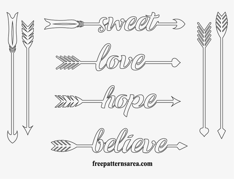 arrows printable cut out arrow silhouette free transparent pngkey make dice of paper coloring pages Free Printable Arrows