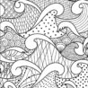 art thérapie pattern coloring waves picasso scribble horse print printable ten coloring pages Waves Coloring Page