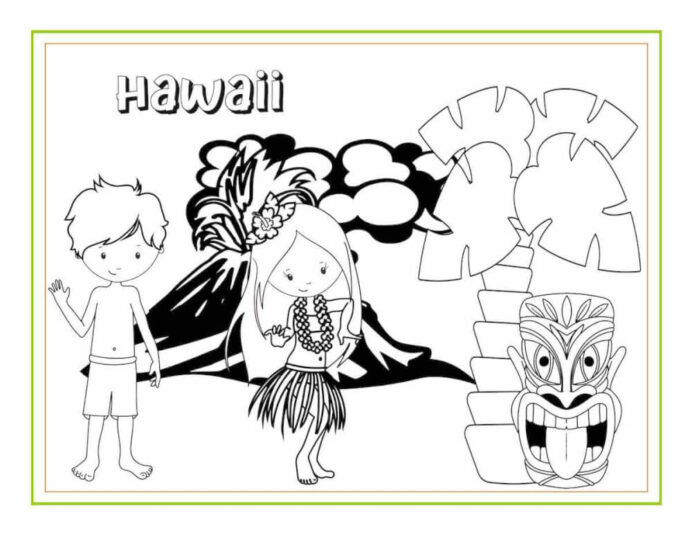 awesome hawaiian coloring sheets and activity for kids travel with fall printable morse coloring pages Hawaiian Coloring Page