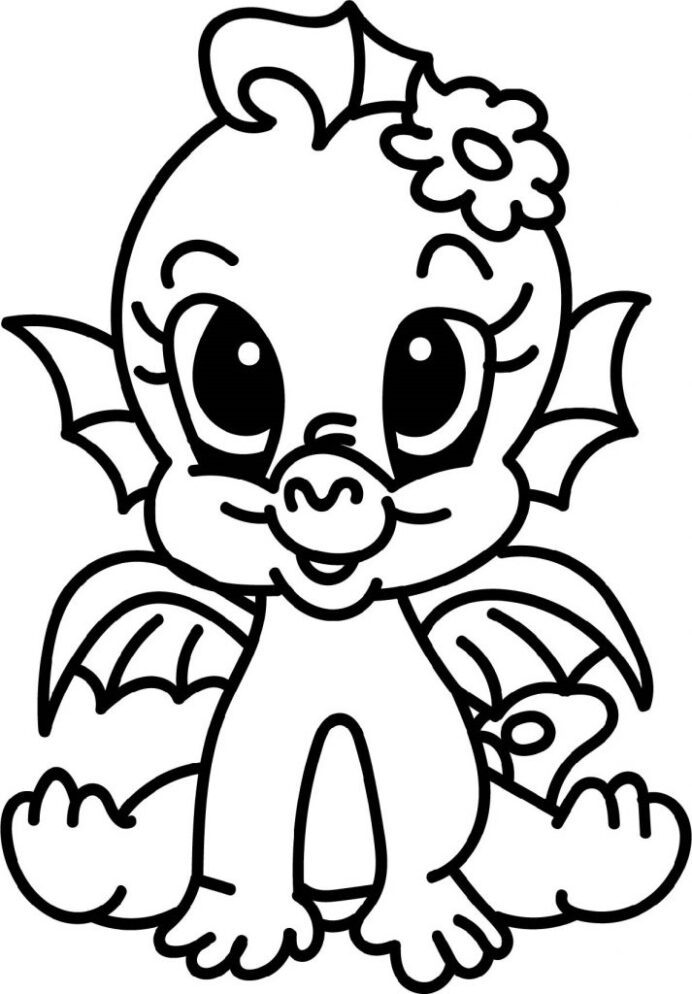 baby dragon coloring fire 713x1024 hank finding dory sport for teens creature feature coloring pages Baby Dragon Coloring Page