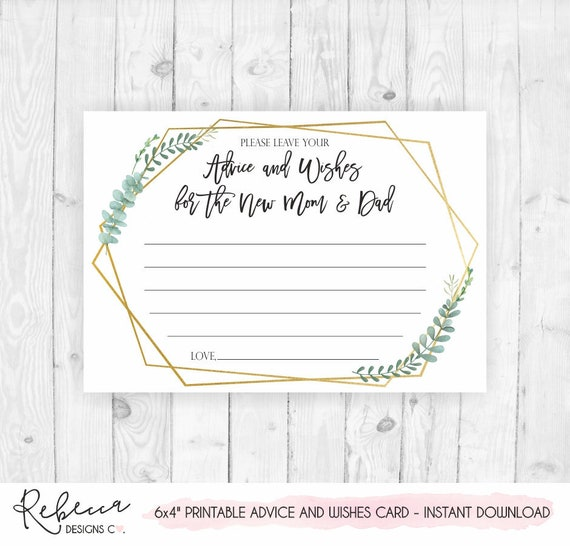 baby shower advice card printable and wishes for the parents to greenery watch grow by coloring pages Baby Shower Advice Cards Printable Free