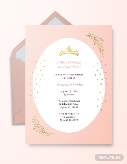 baby shower invitation examples in ms word free printable princess invitations cells coloring pages Free Printable Princess Baby Shower Invitations