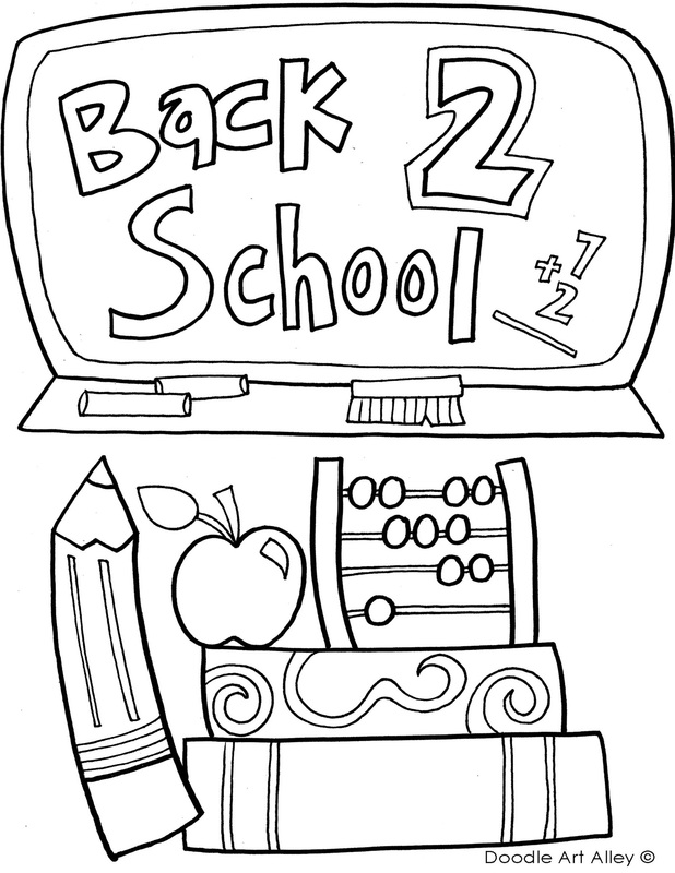 back to school coloring printables classroom doodles first of orig crayola spirals free coloring pages First Day Of School Coloring Page