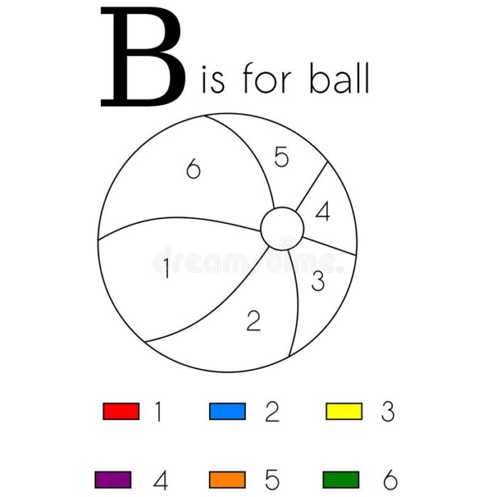 ball vector alphabet letter coloring stock image illustration of children education funny coloring pages Ball Coloring Page