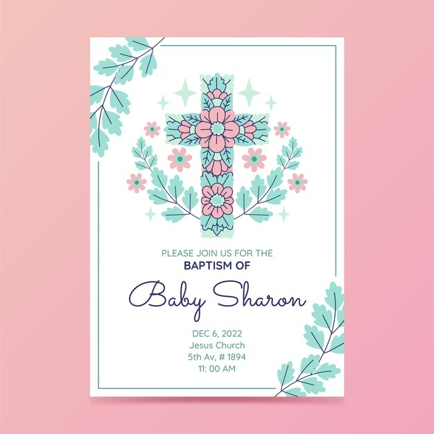 baptism card images free vectors stock photos printable cards flat design invitation coloring pages Free Printable Baptism Cards