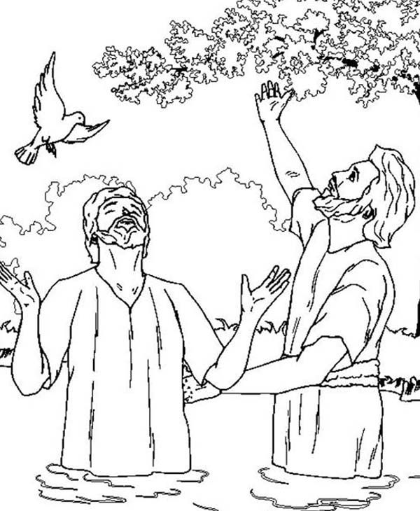 baptist check more at https bo peep lub jesus and john the coloring sky color snowman coloring pages John The Baptist Coloring Page