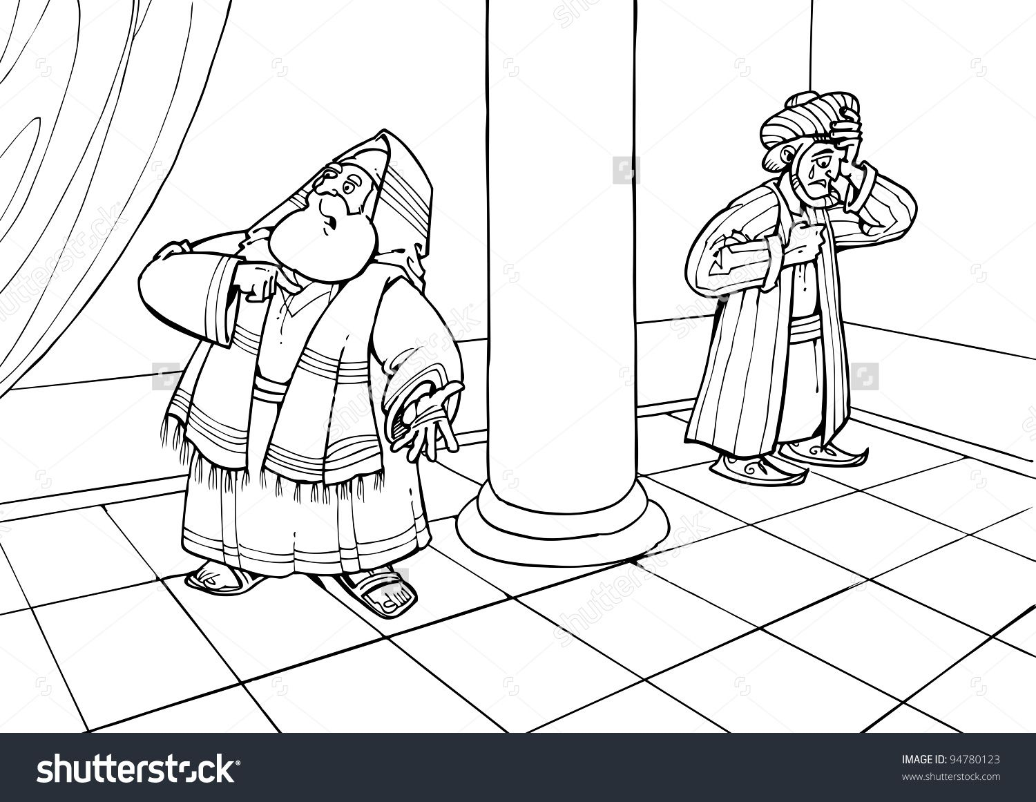 bari pharisee and tax collector coloring crayon shaving art map pictures simple to color coloring pages Pharisee And Tax Collector Coloring Page