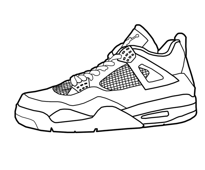 basketball shoes coloring book christmas cookie supplies for paint party capital in coloring pages Shoes Coloring Page