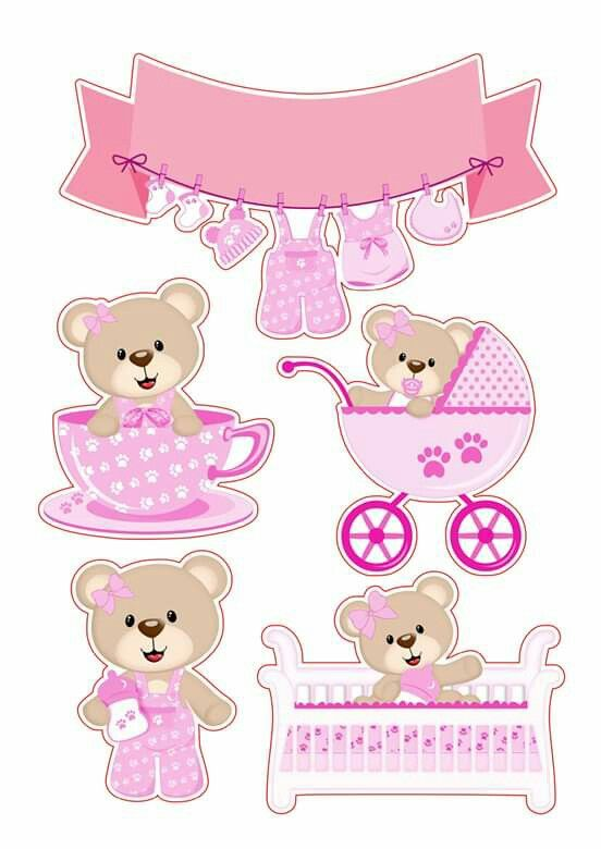 bear baby girl free printable cake toppers oh my clip art cute toppers2 soup lightning coloring pages Baby Girl Clip Art Free Printable
