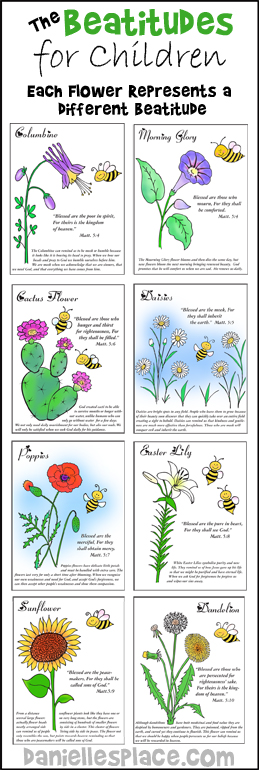 beatitudes sunday school lessons for children free printable beatitude color sheets coloring pages Free Printable Beatitudes