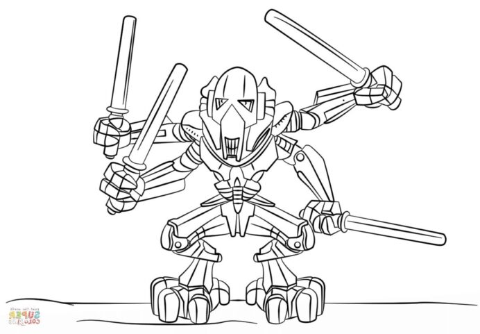beau lego star wars coloriage photos images humor art general grievous coloring for coloring pages General Grievous Coloring Page