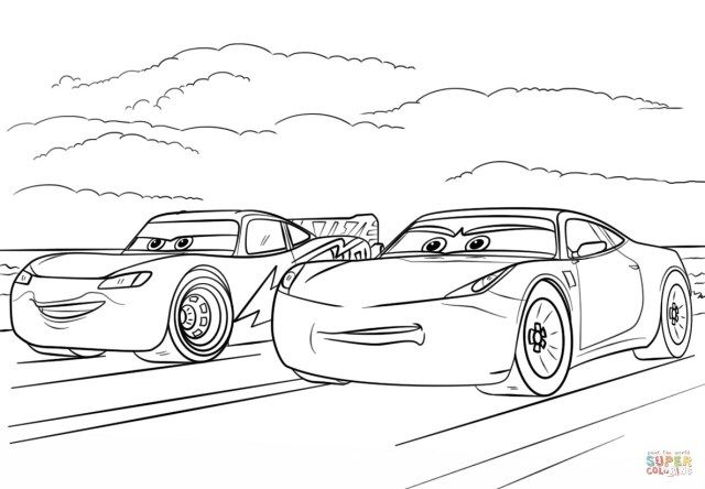 beautiful of cars coloring entitlementtrap disney pictures christmas tree to color coloring pages Cars 3 Coloring Page