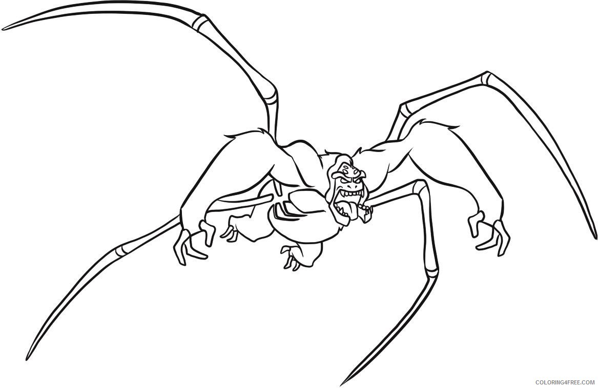 ben coloring ultimate spidermonkey coloring4free spider monkey printable thanksgiving to coloring pages Spider Monkey Coloring Page