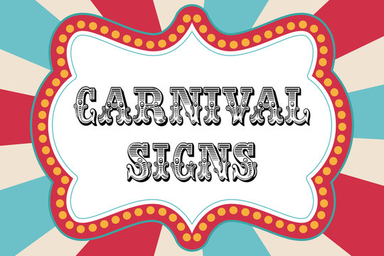 best carnival sign images stock photos vectors adobe free printable signs coloring pages Free Printable Carnival Signs