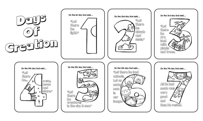best free printable creation activity printablee days of coloring gods toddler gift teen coloring pages Days Of Creation Coloring Page