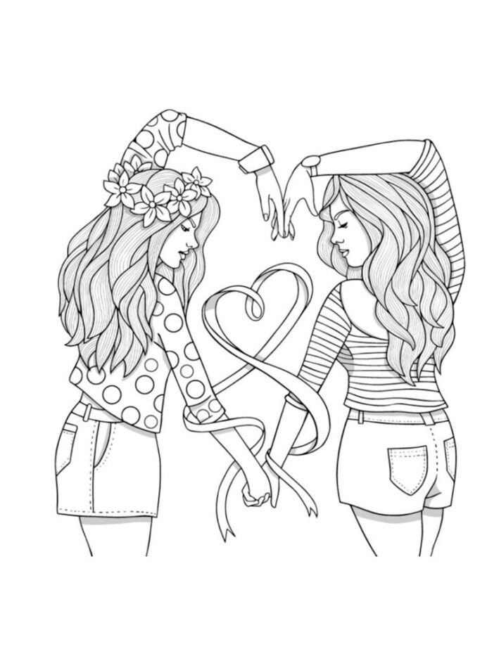 best friend coloring and print bunny pictures to color crayola wahsable paint ornaments coloring pages Friend Coloring Page