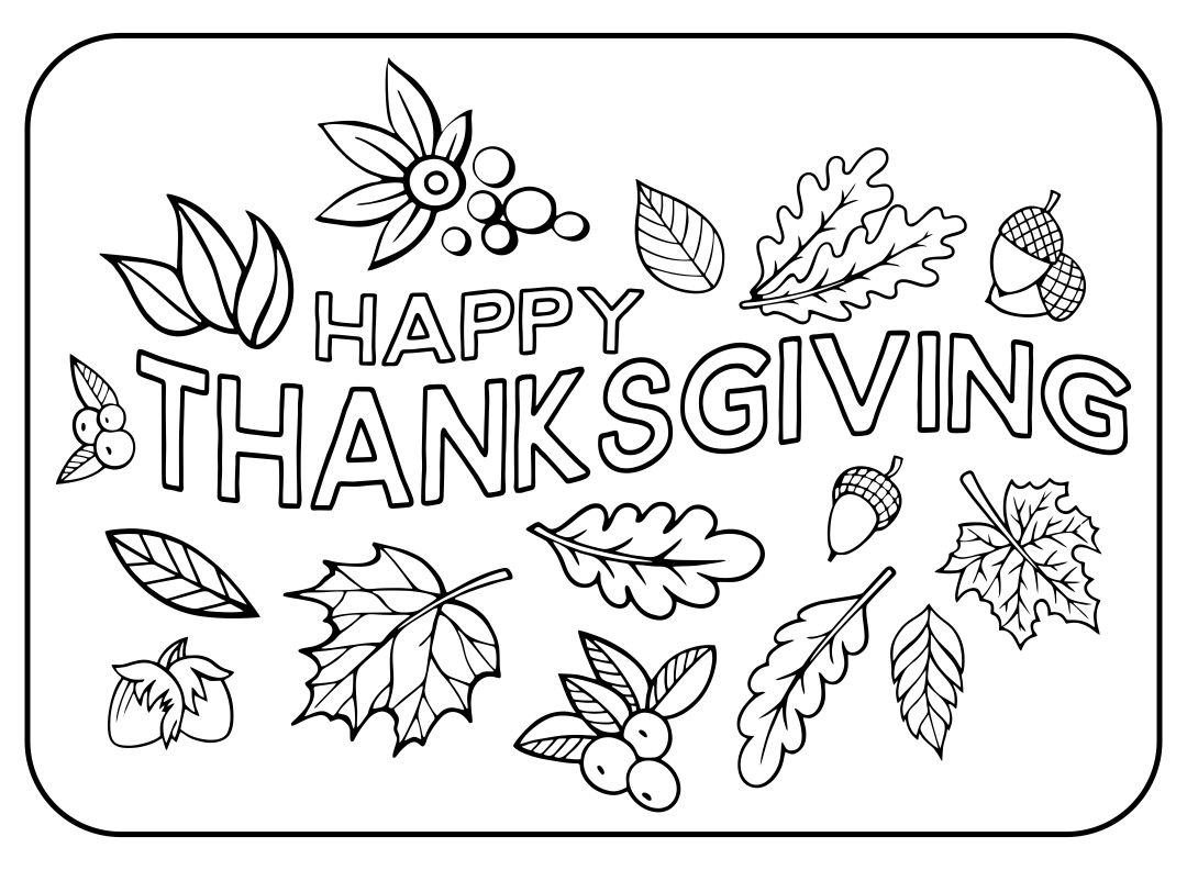 best happy thanksgiving coloring printables printablee printable color changing markers coloring pages Happy Thanksgiving Coloring Page