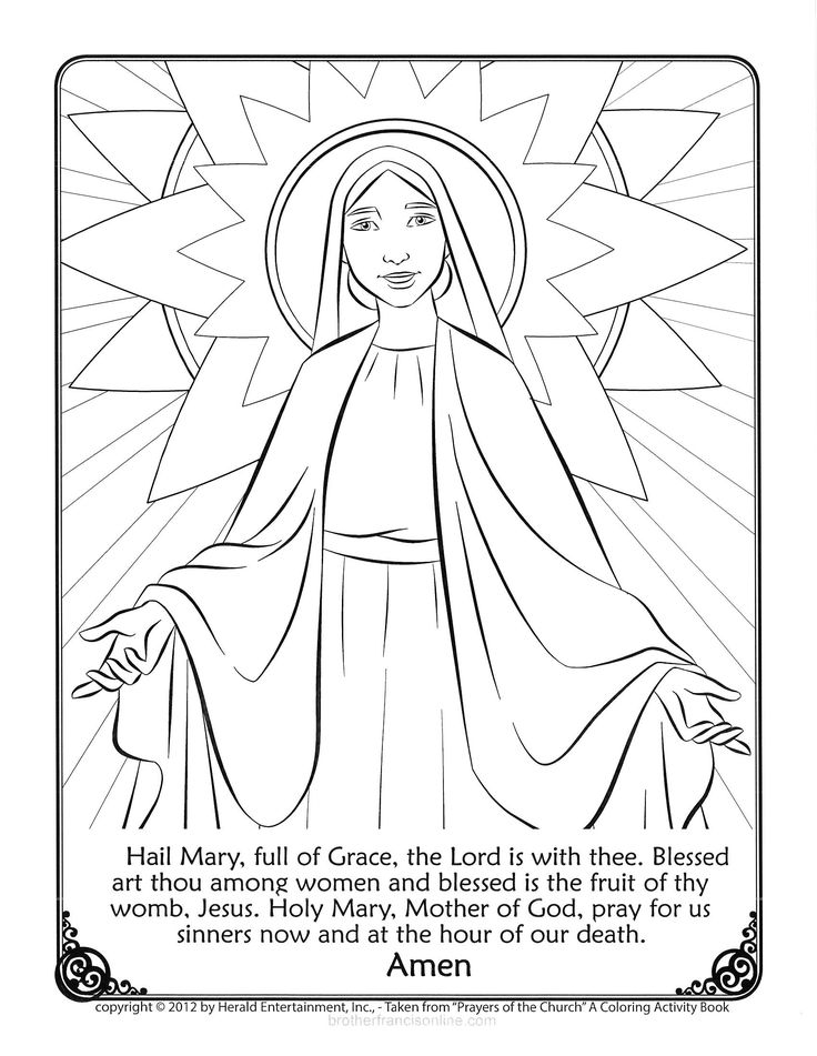 best ideas for coloring blessed mother mary floor chalk cleaner disney book stained vinyl coloring pages Blessed Mother Coloring Page