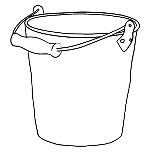 best ideas for coloring bucket and pail beach taking water with happy new year sheet coloring pages Beach Bucket Coloring Page