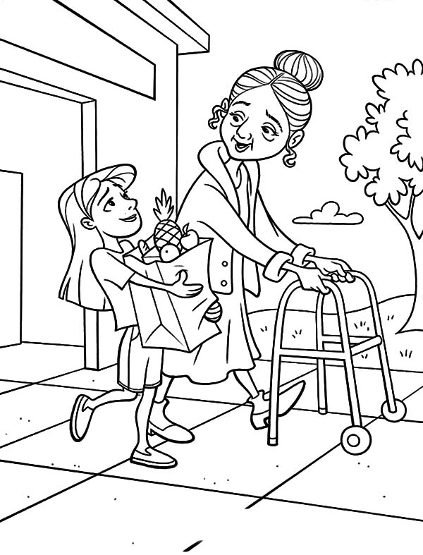 best ideas for coloring children helping others kids lady bug crayons mixed togetther coloring pages Helping Others Coloring Page
