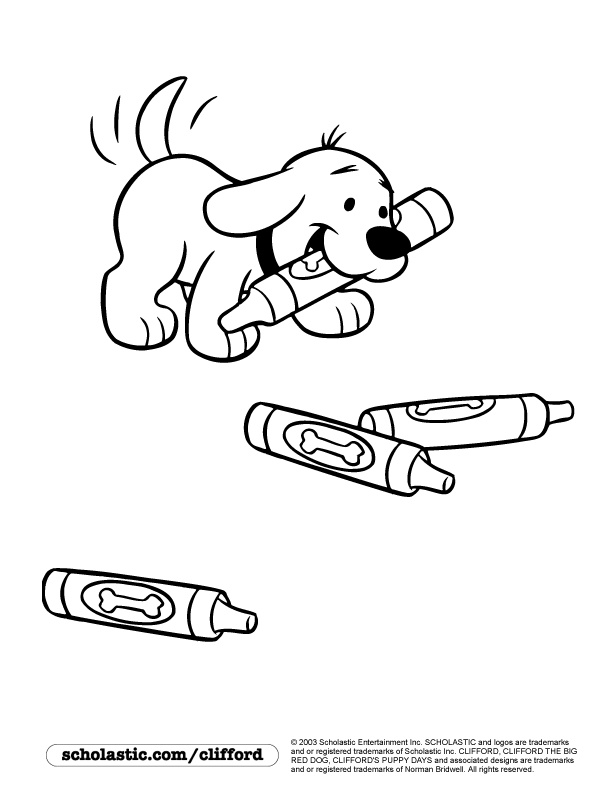best ideas for coloring clifford puppy days scraping black craypas off crayola scrubbies coloring pages Clifford Coloring Page