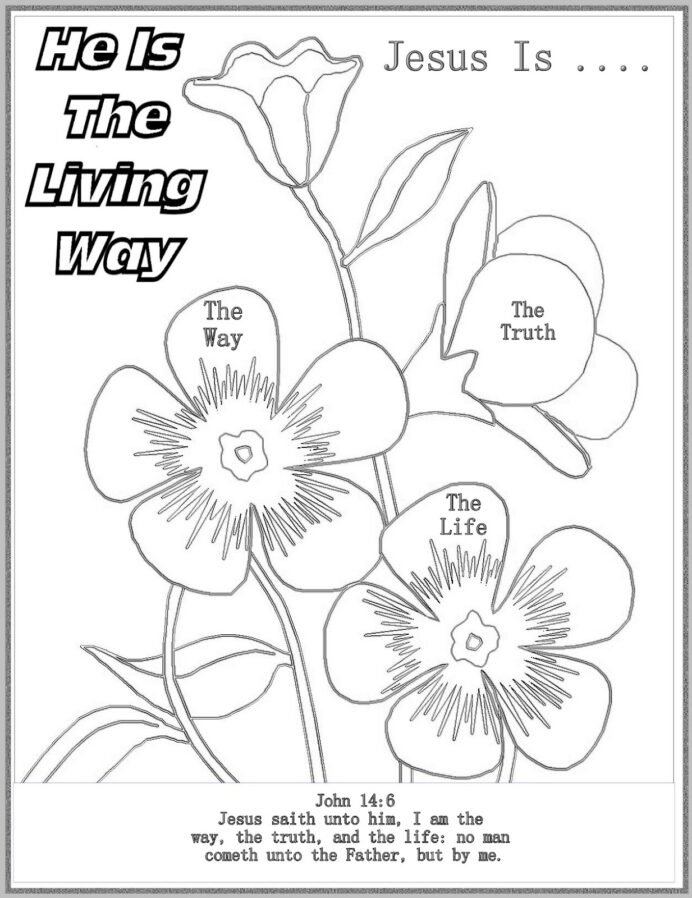 best ideas for coloring john he is the living way sheet thank you images printer problem coloring pages John 14:6 Coloring Page