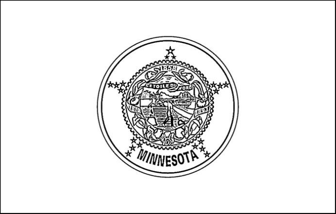 best ideas for coloring state flag of construction paper craft owl sheets printable coloring pages Minnesota State Flag Coloring Page