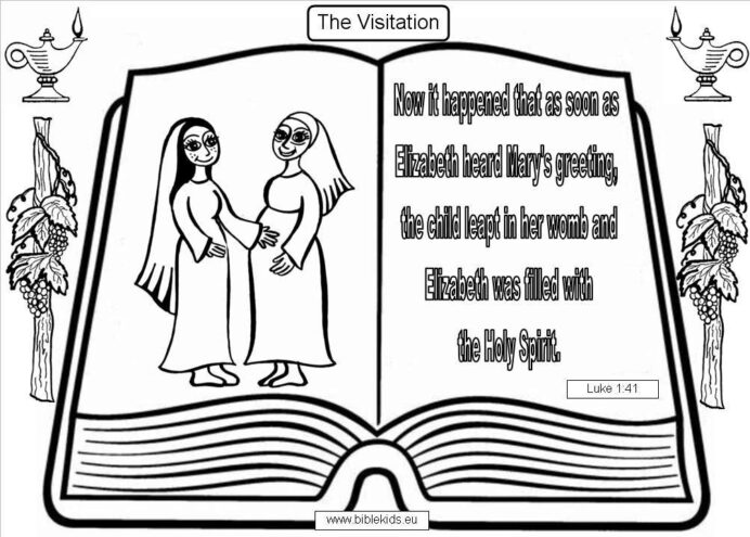 best ideas for coloring zechariah and elizabeth mary visits yio46bort of baseballs pen coloring pages Mary Visits Elizabeth Coloring Page