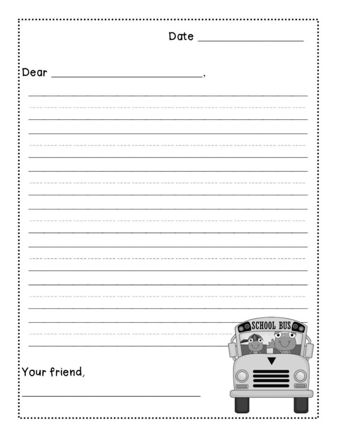 best letter writing template ideas templates free printable art kits for kids educational coloring pages Free Printable Letter Writing Template