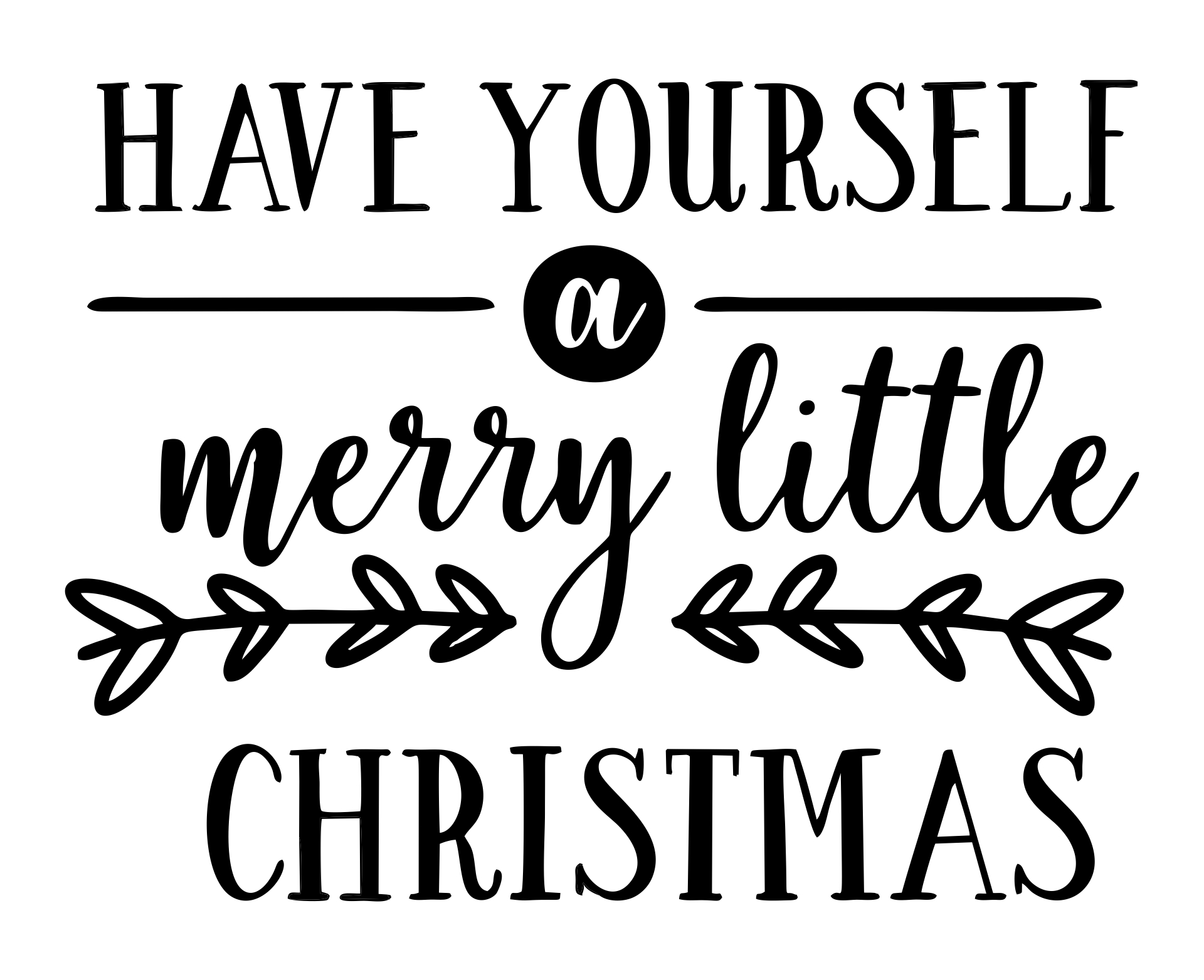 best merry christmas free printable stencil printablee have yourself little silhouette coloring pages Merry Christmas Stencil Free Printable