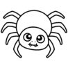 best printable halloween spider coloring printablee spiders free gift ideas for toddlers coloring pages Spiders Coloring Page