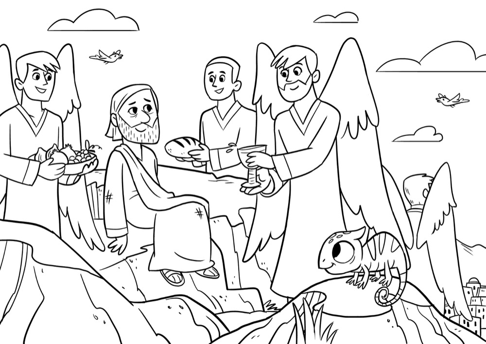 bible for kids coloring sheets your enemies testinthedesertcolorthumb stars pixel art coloring pages Love Your Enemies Coloring Page