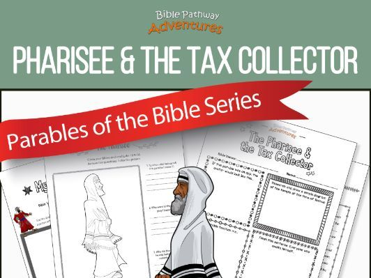 bible parable pharisee the tax collector teaching resources and coloring coloring pages Pharisee And Tax Collector Coloring Page