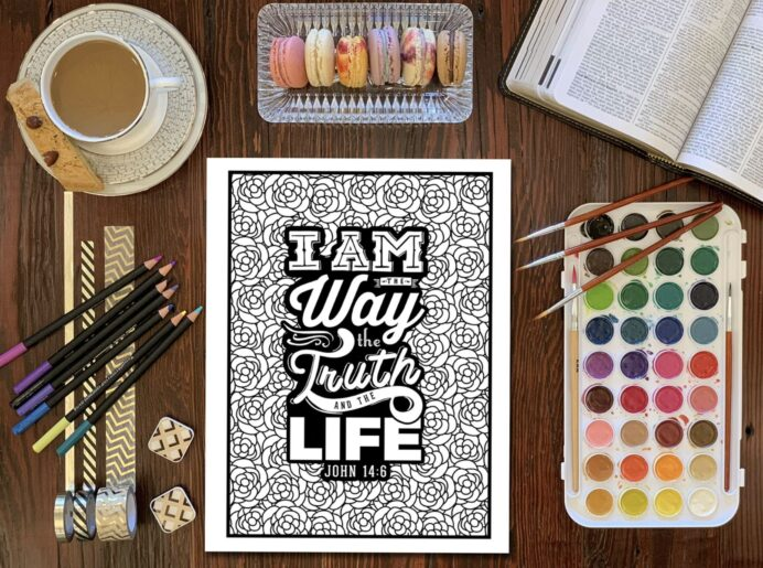 bible verse coloring books for adults with art supplies water color sets reviews light coloring pages Christian Coloring Page
