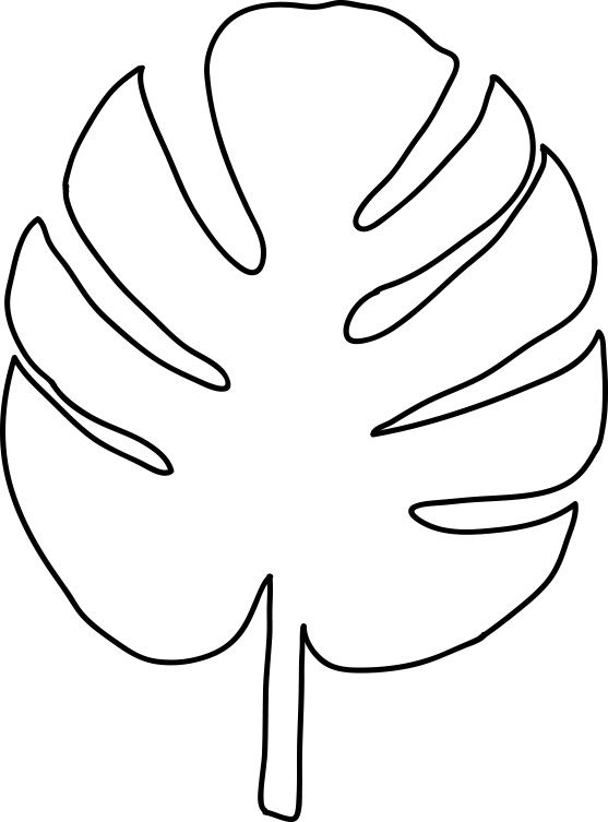 bildergebnis für leaf pattern template leaves free printable palm coloring tracer light coloring pages Palm Leaf Coloring Page