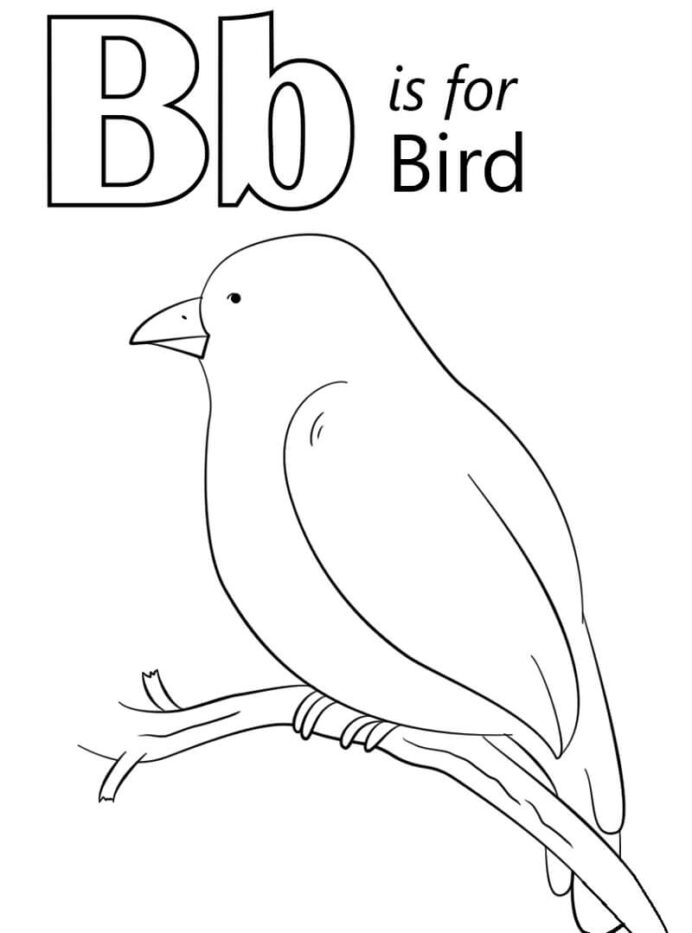 bird letter coloring free printable for kids crayola human resources dinosaur to paint coloring pages B Coloring Page