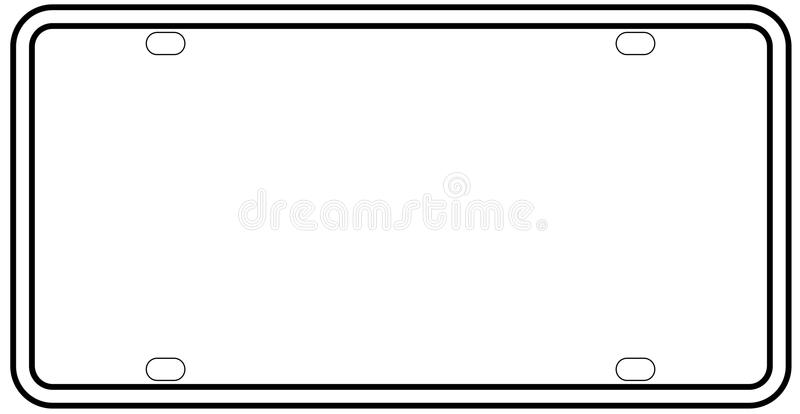 blank license plate template vehicle car souvenior vanity stock illustration of instock coloring pages License Plate Template Printable Free