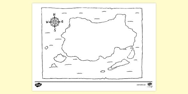 blank map colouring sheets pirate coloring tp ver water glue sa tangram lessons capped coloring pages Pirate Map Coloring Page