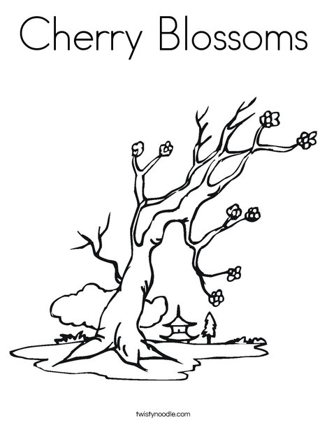 blossoms coloring twisty noodle tree 468x609 q85 shoppies to print and draw cute coloring pages Cherry Tree Coloring Page