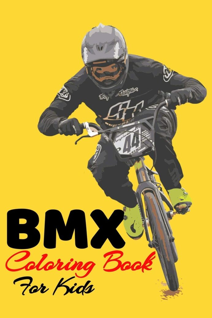 bmx coloring book for kids mountain bike cycling with some motivation as gift inside coloring pages Bmx Coloring Page