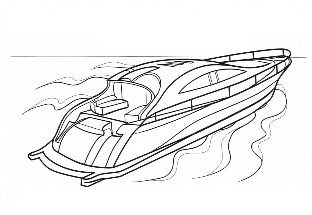 boat coloring best pictures free printable speed raskrasil logo recycled kcup sculptures coloring pages Speed Boat Coloring Page
