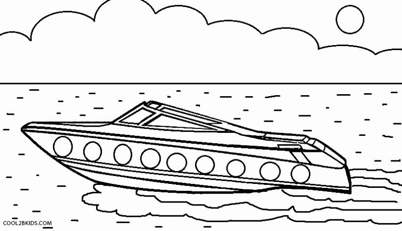 boat coloring whitesbelfast speed printable for kids cool2bkids farm pics to color dot coloring pages Speed Boat Coloring Page