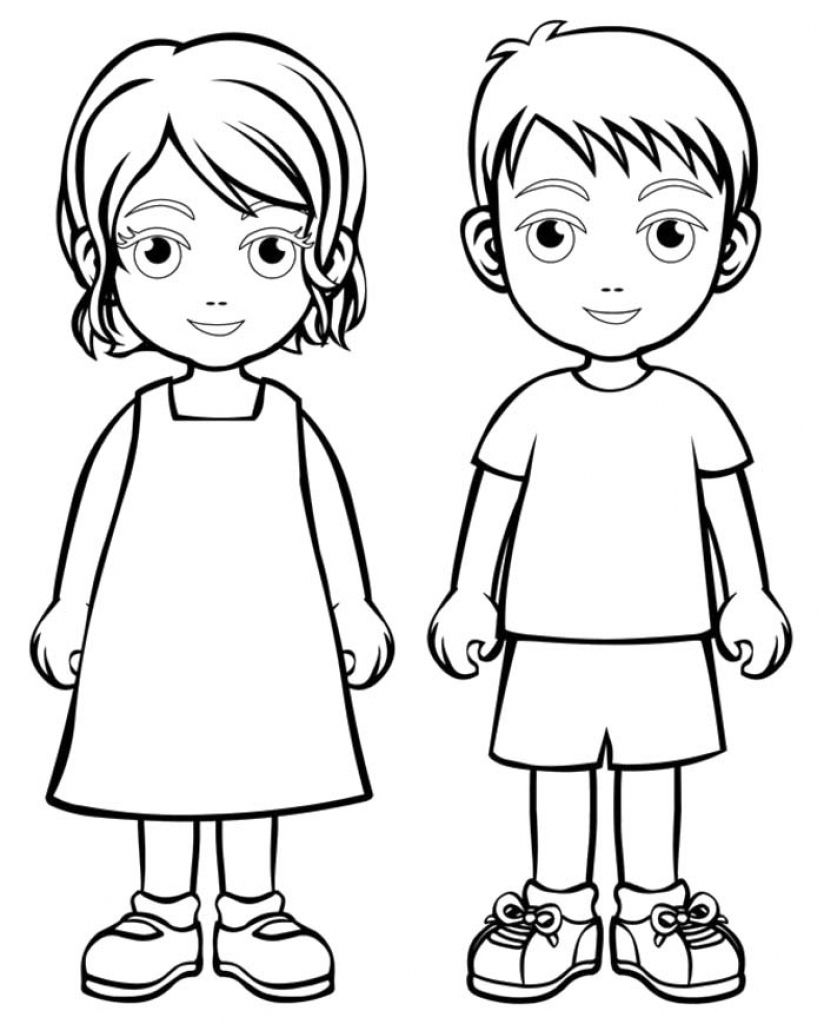 boy girl coloring boys and girls wear colouring regarding for people geomantric cities coloring pages Boy Coloring Page