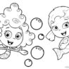 bubble guppies coloring tv film deema and oona coloring4free guppy working model for coloring pages Bubble Guppy Coloring Page