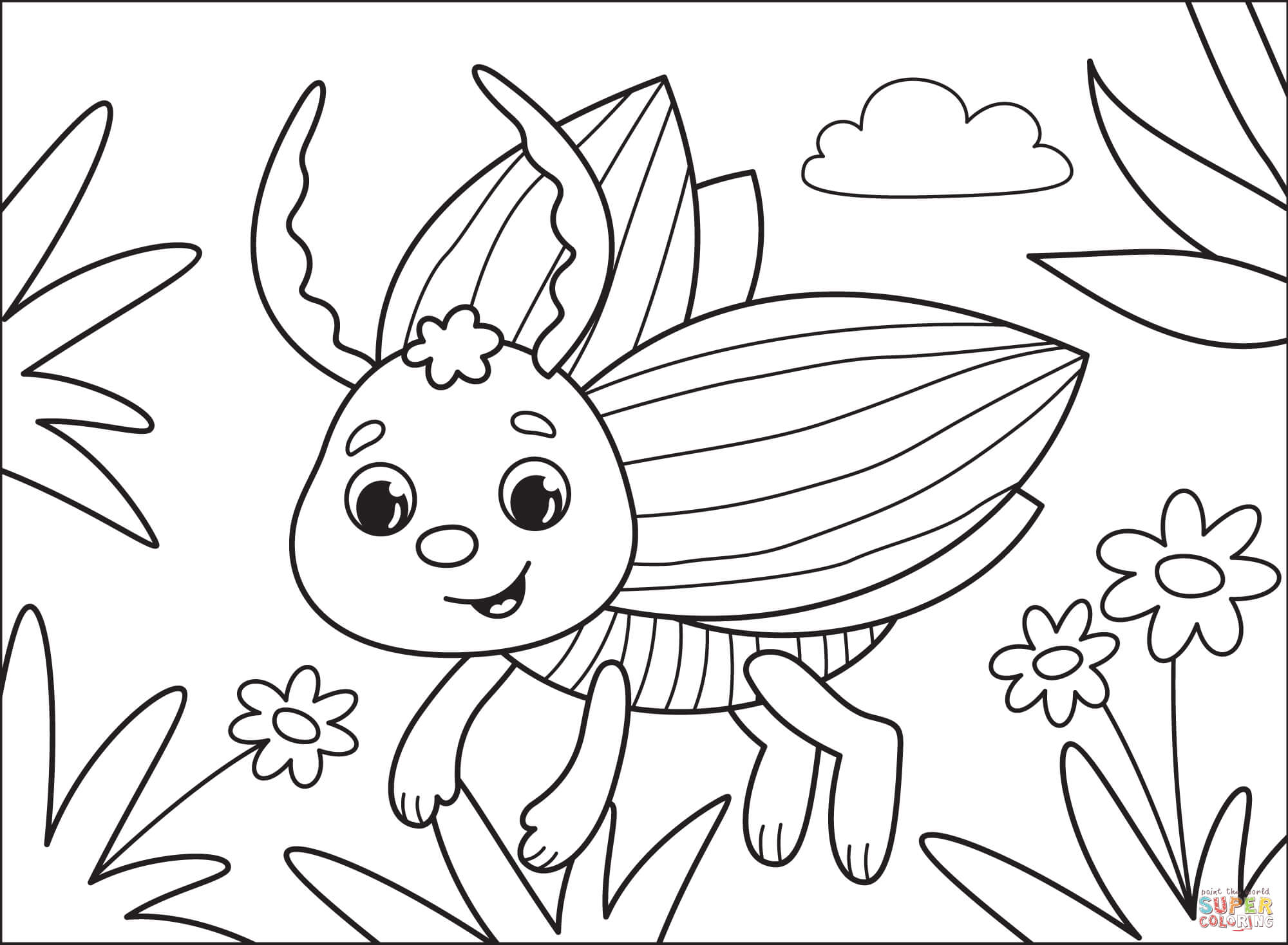 bug coloring free printable wall safe crayons poster project for kids sheet advent coloring pages Bug Coloring Page