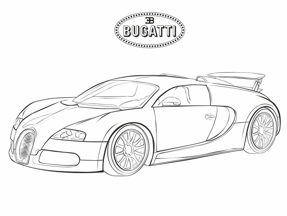 bugatti coloring free printable for kids chiron lettering tools colored pencil sharpener coloring pages Bugatti Chiron Coloring Page
