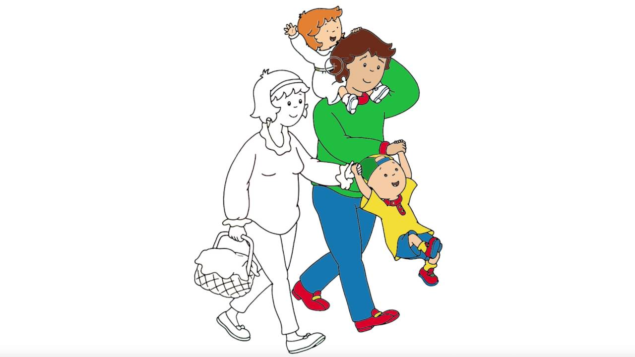 caillou coloring and his family are going to picnic little hands book frankenstein sheet coloring pages Caillou Coloring Page