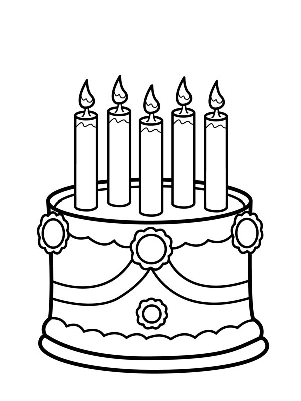cake with candles coloring 1001coloring birthday candle taart met kaarsen classpack art coloring pages Birthday Candle Coloring Page