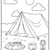 camping coloring heart crafty things tent squad goals book diy name place holders learn coloring pages Tent Coloring Page